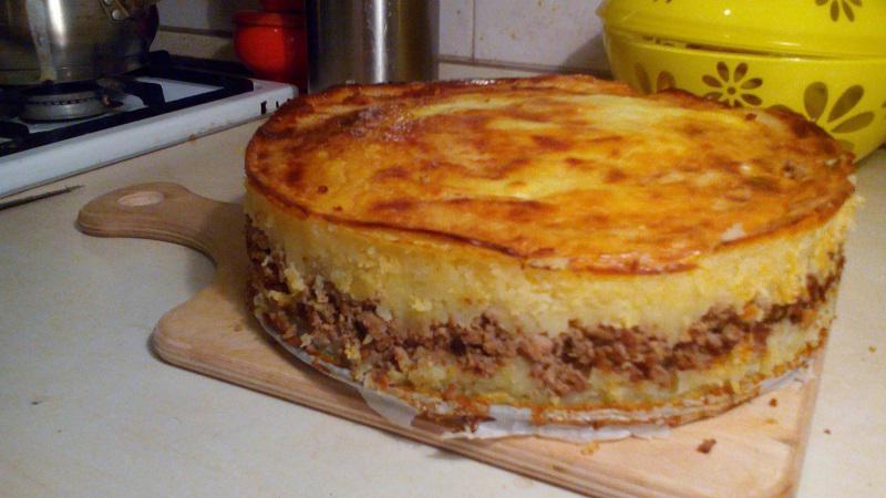 Delicate potato casserole with meat. Amazingly delicious!