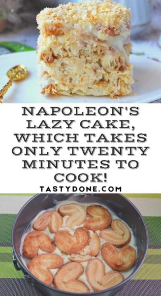 Napoleon's lazy cake, which takes only twenty minutes to cook!