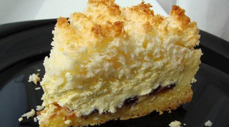 Pie with curd filling. Very simple and delicious