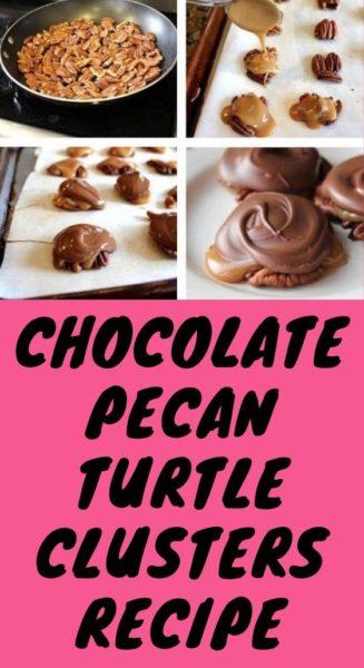 CHOCOLATE PECAN TURTLE CLUSTERS RECIPE