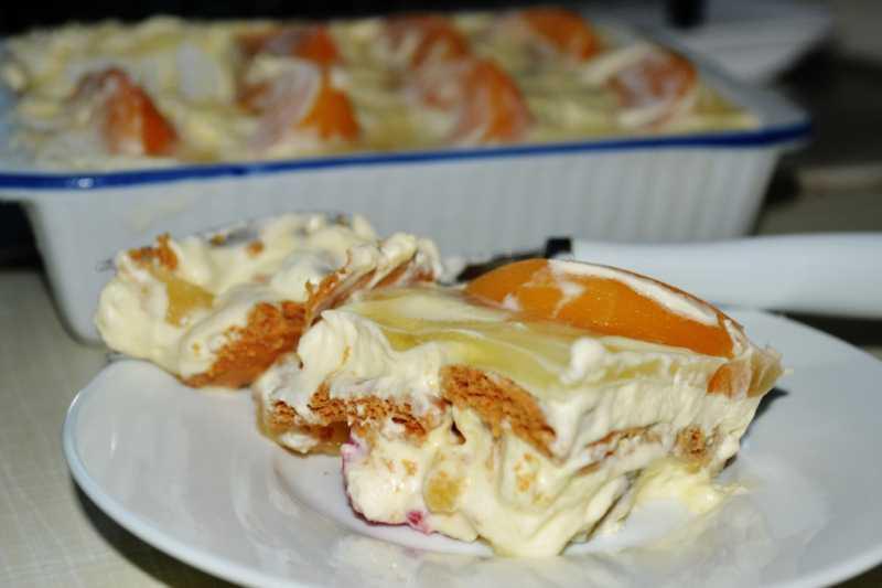 Crema De Fruta cake without baking