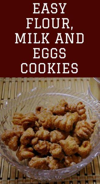 Easy flour, milk and eggs cookies