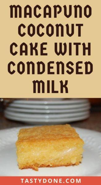 Macapuno coconut cake with condensed milk