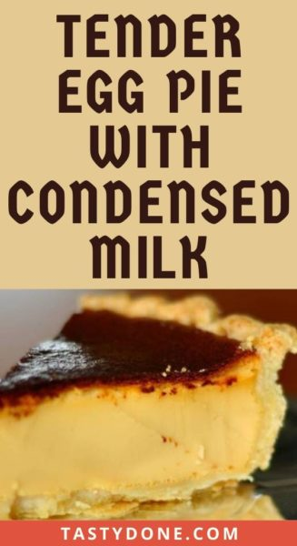 Tender egg pie with condensed milk