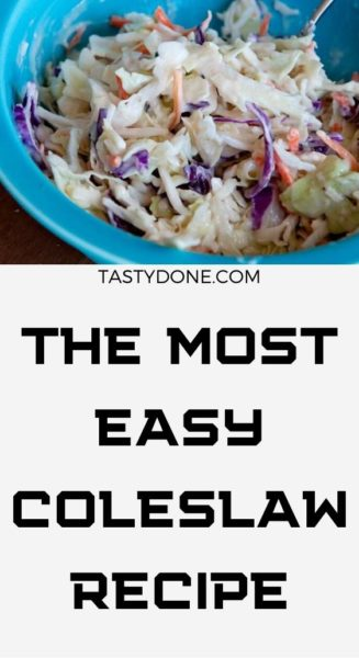 The Most Easy Coleslaw Recipe