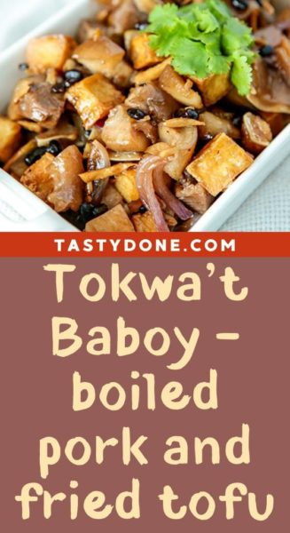 Tokwa't Baboy - boiled pork and fried tofu
