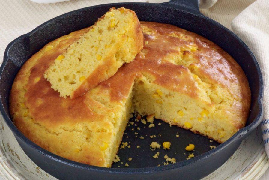Moist Buttermilk Cornbread With Cream-Style Corn