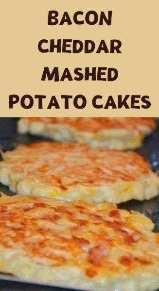 Bacon Cheddar Mashed Potato Cakes