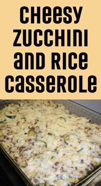 Cheesy Zucchini and Rice Casserole