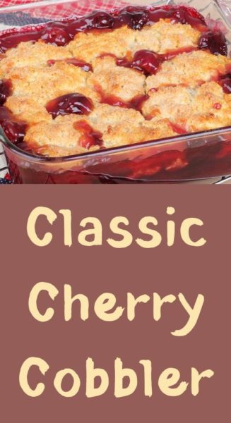 Classic Cherry Cobbler