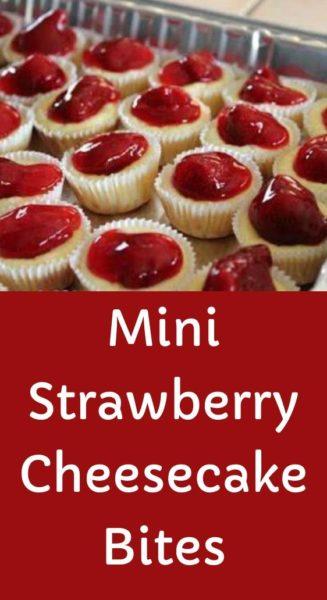 Mini Strawberry Cheesecake Bites