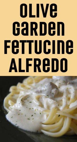 Olive Garden Fettucine Alfredo