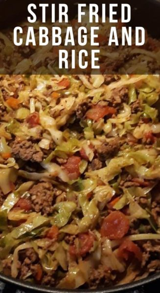Stir Fried Cabbage and Rice