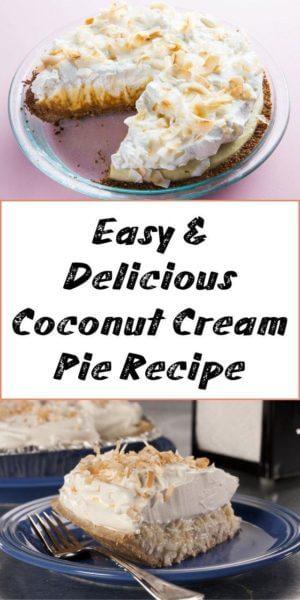 Easy & Delicious Coconut Cream Pie Recipe