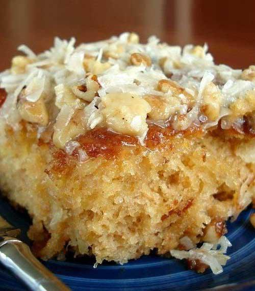 Do Nothing Cake -it is very simple to cook it, but it is eaten very quickly...