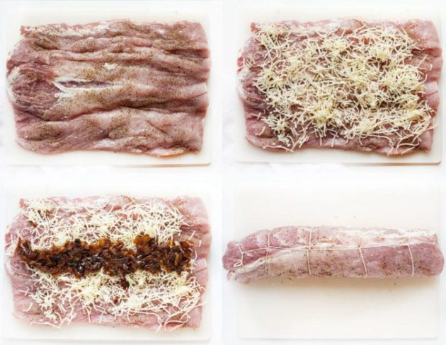 I often cook pork loin with French onion and Italian seasoning - really a festive dish!