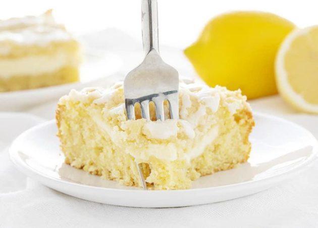 Fragrant Coffee Cake with Delicate Lemon Cream Cheese