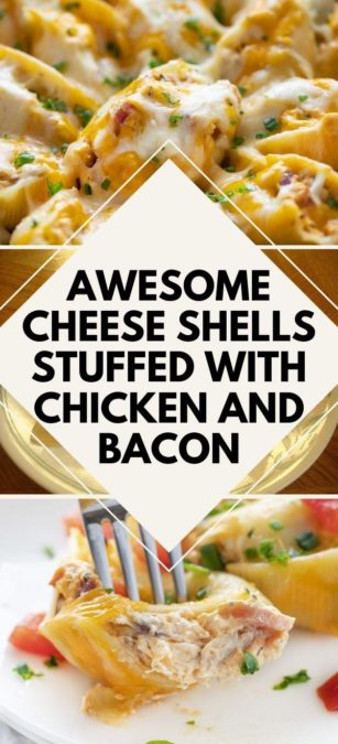 Awesome cheese shells stuffed with chicken and bacon