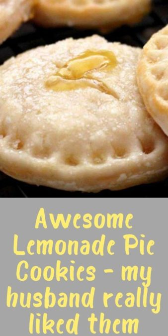 Awesome Lemonade Pie Cookies - my husband really liked them