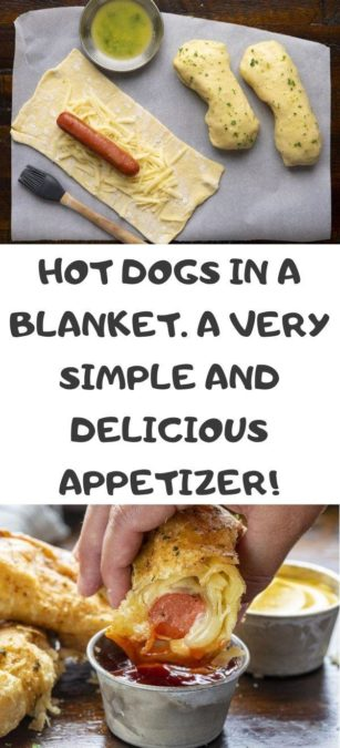 Hot Dogs in a blanket. A very simple and delicious appetizer!