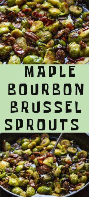 Unique recipe - maple bourbon Brussel sprouts