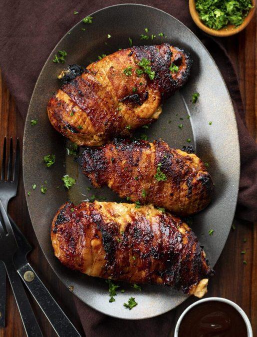 Air Fryer BBQ Stuffed Chicken Breasts