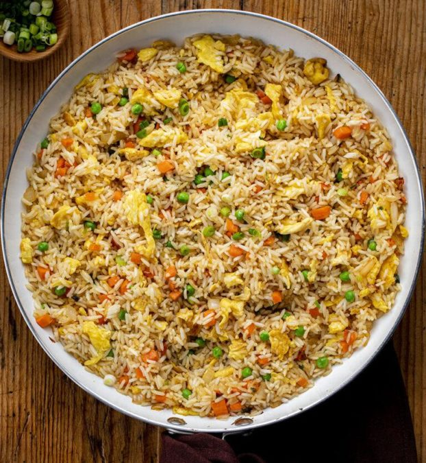 Fried Rice with garlic and soy sauce