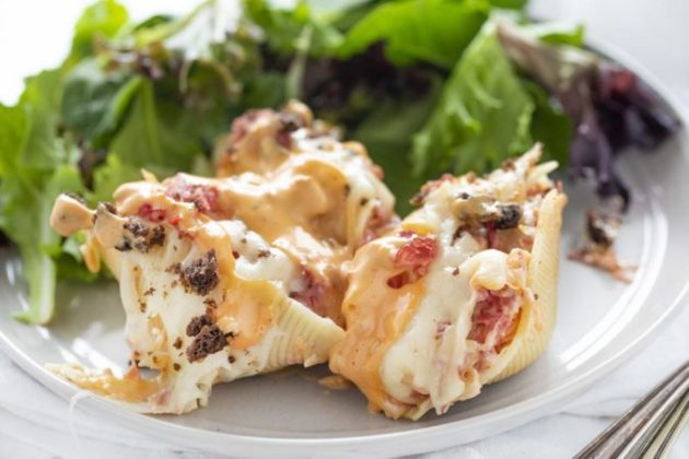 Reuben Stuffed Shells - Fun and Hearty Dinner Idea!