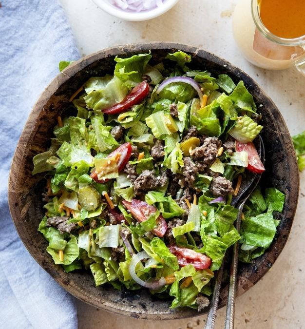 Cheeseburger Salad - tastes exactly like a Big Mac but is gluten-free!