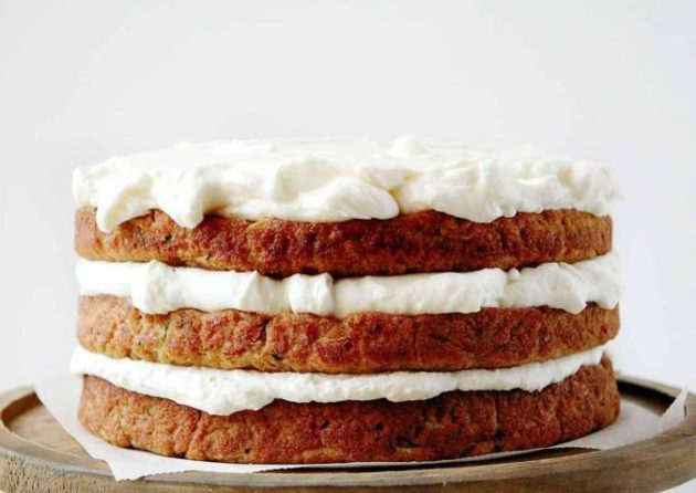 This Zucchini Banana Cake with Whipped Cream Cheese Frosting is the perfect marriage of light and sweet!