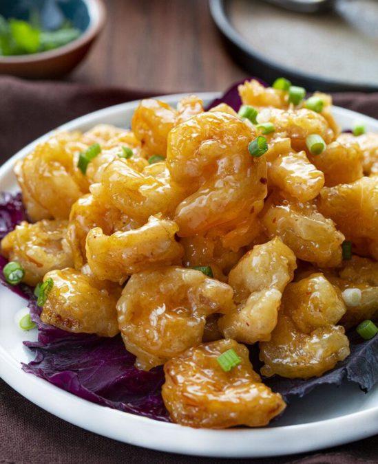 Bang Bang Shrimp with a homemade sweet and spicy bang bang sauce