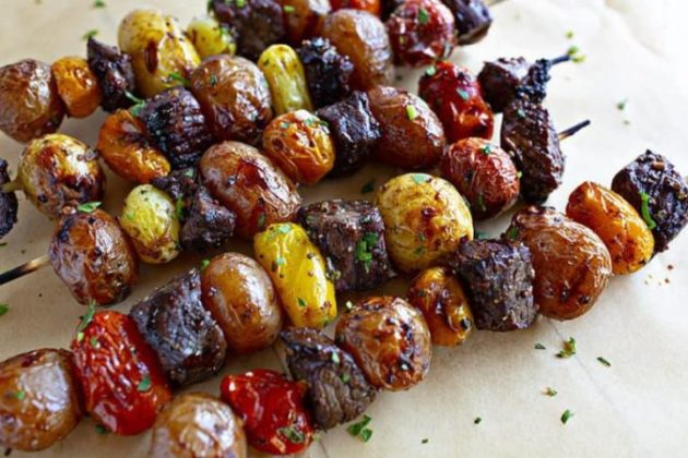 My Favorite Rosemary Garlic Steak Kebabs