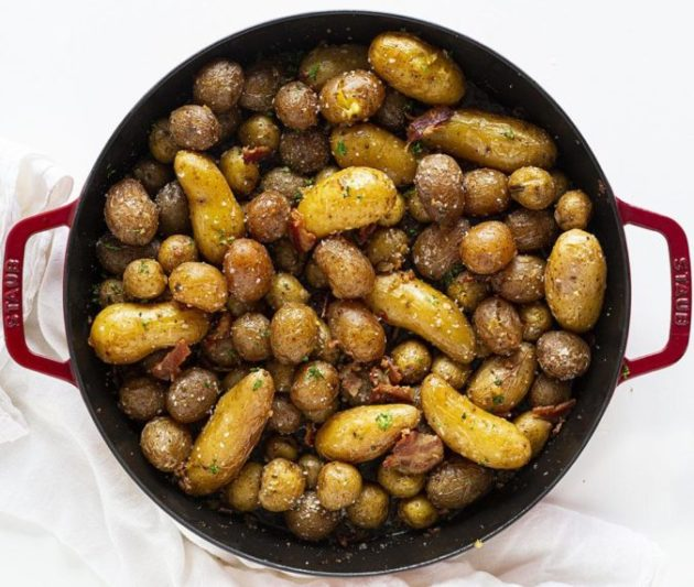 Perfectly Roasted Bacon Baby Potatoes