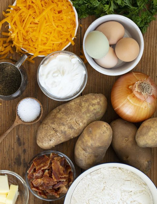 Pierogi with cheesy mashed potatoes and onion