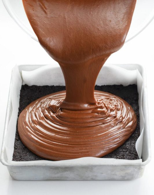 Chocolate Cheesecake Bars - creamy and chocolatey dessert