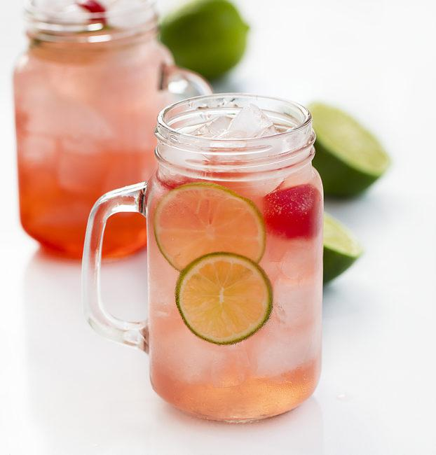 Cherry Limeade - cold, refreshing non-alcoholic drink