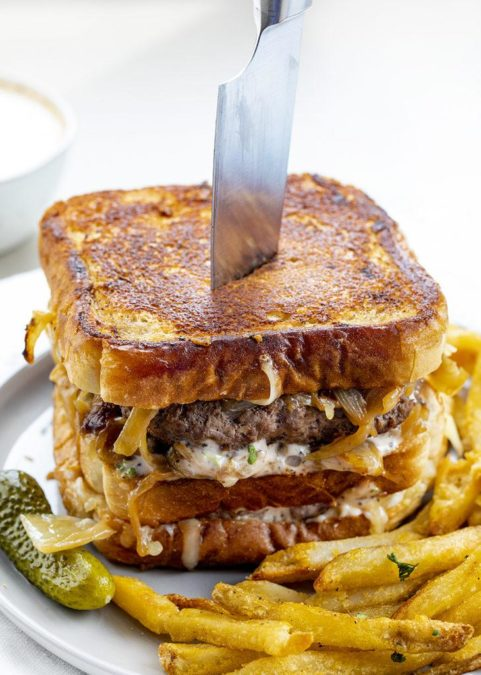 Double Decker French Onion Patty Melt - WOW Juicy Cheese Sandwich