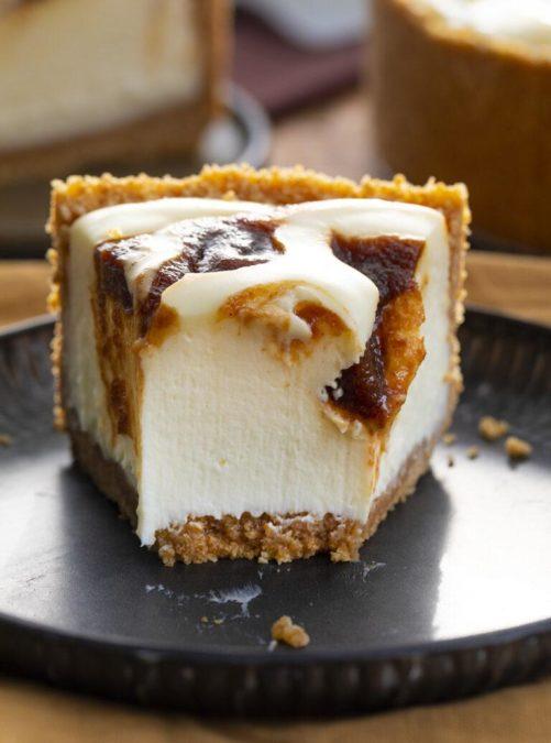 No Bake Apple Butter Cheesecake