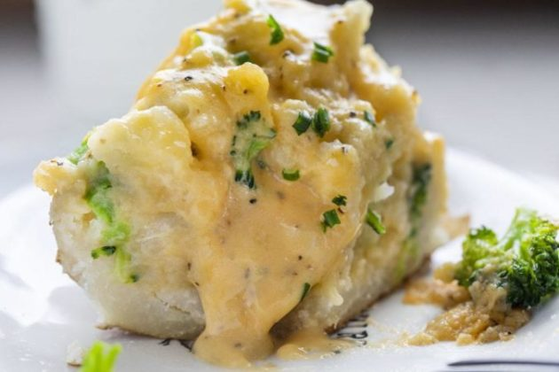 Broccoli Cheese Twice Baked Potatoes - like a meal in itself!