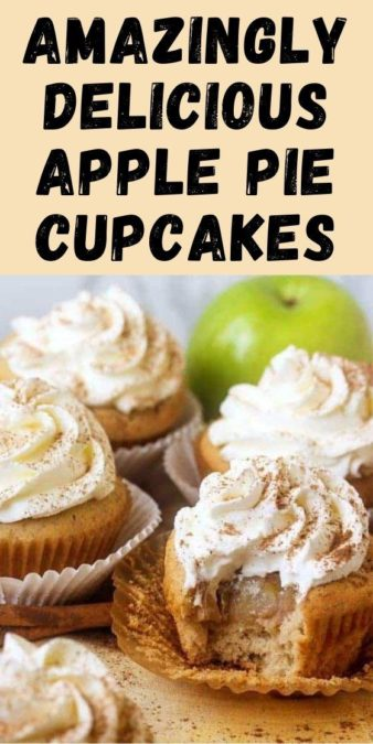 Amazingly Delicious Apple Pie Cupcakes