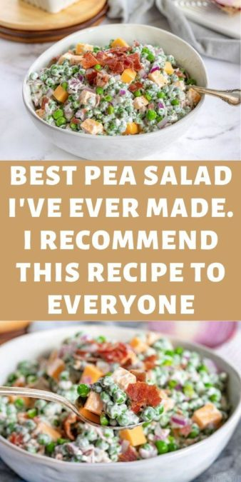 Best pea salad I've ever made. I recommend this recipe to everyone