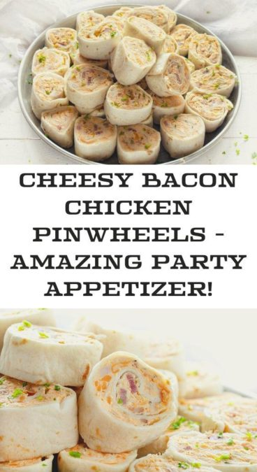 Cheesy Bacon Chicken Pinwheels - amazing party appetizer!