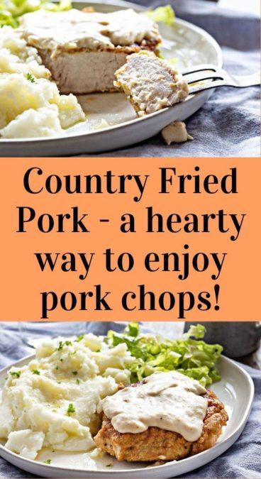 Country Fried Pork - a hearty way to enjoy pork chops!