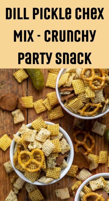 Dill Pickle Chex Mix - crunchy party snack