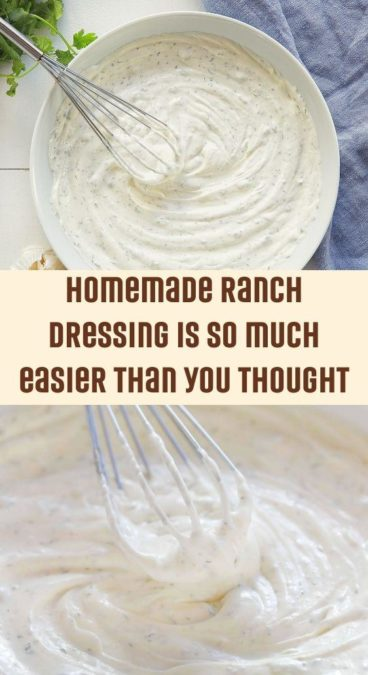 Homemade Ranch Dressing is so much easier than you thought