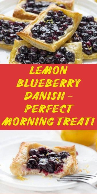Lemon Blueberry Danish - perfect morning treat!