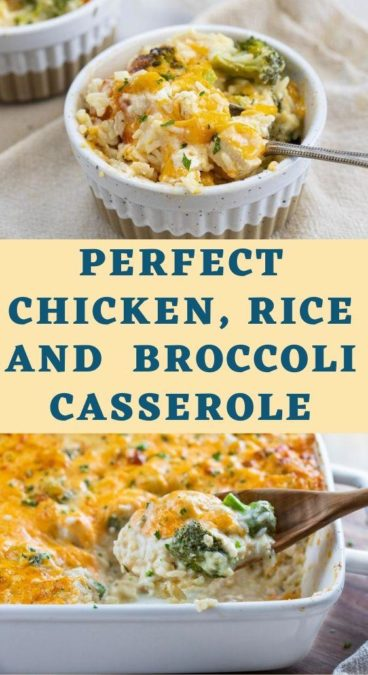 Perfect Chicken, Rice and Broccoli Casserole