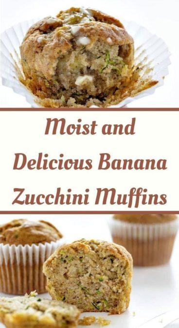 Moist and Delicious Banana Zucchini Muffins
