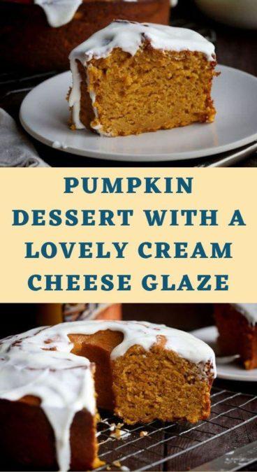 Pumpkin Dessert with a Lovely Cream Cheese Glaze