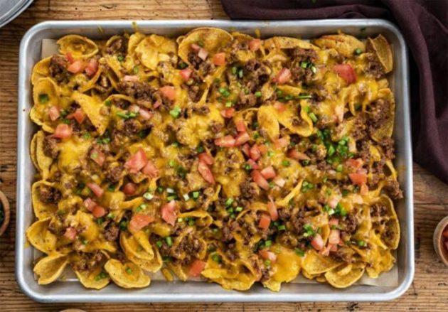 Fancy Sloppy Joe Nachos - simple and quick recipe